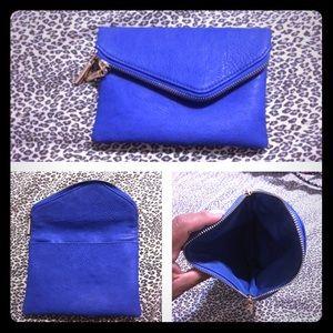 Royal blue clutch/wristlet